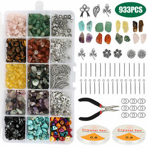 933X-DIY-Irregular-Chips-Stone-Bead-Bracelet-Necklace-Natural-Jewelry-Making-Kit