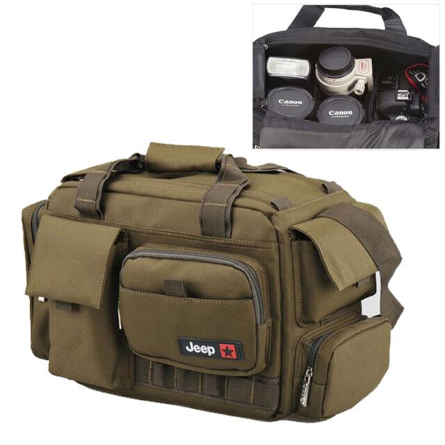 Large Women Mens Camera Shoulder Carry Bag Insert Fit DSLR SLR Nikon Canon Sony