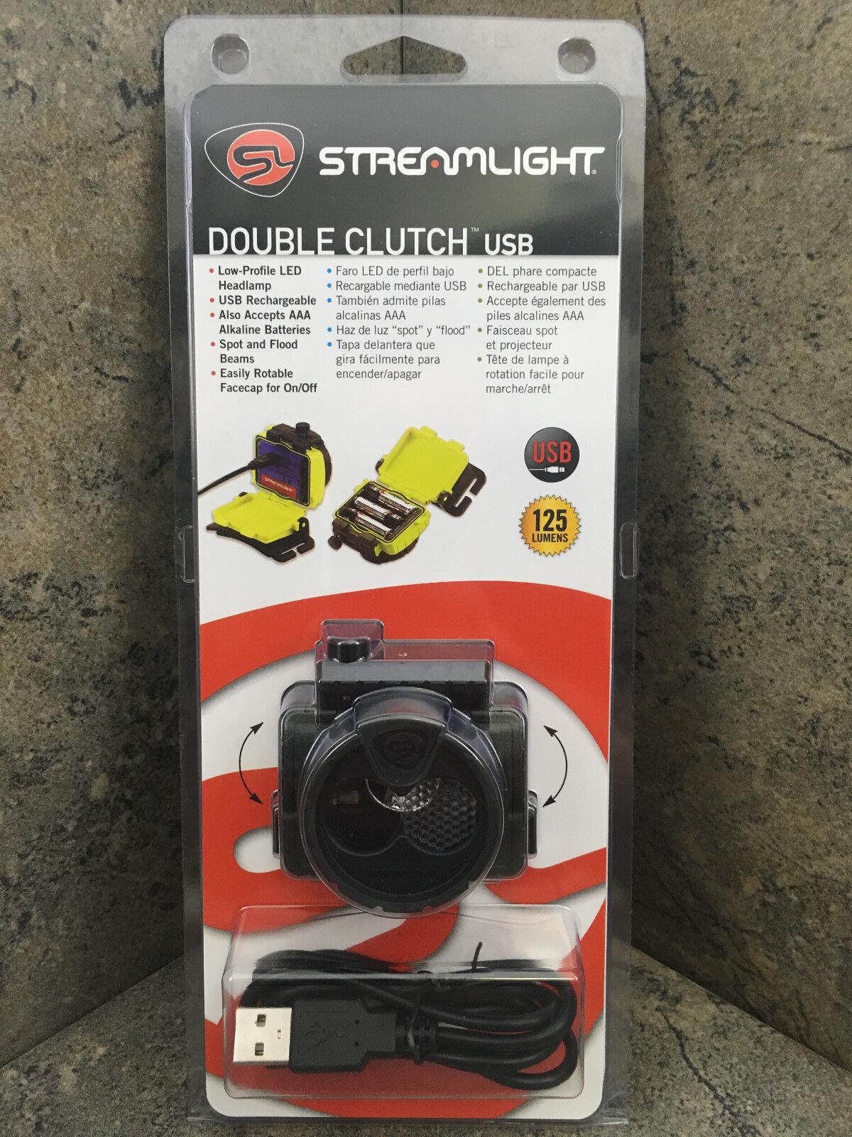 Strea ight 61603 Double  Clutch USB Headlamp Flashlight  125 lumens 120V AC Adap  online fashion shopping