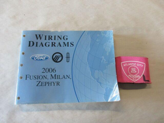 2006 Ford Fusion Mercury Milan Lincoln Zephyr Wiring Diagrams Service Manual