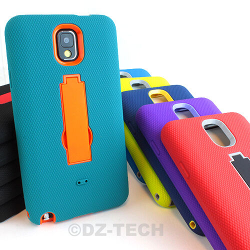 For Samsung Galaxy Note III 3 Rugged Impact Hybrid Hard Case Cover Kickstand