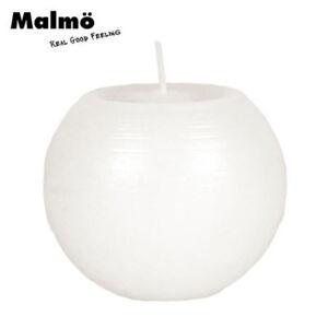 Malmo-Bougie-en-Forme-de-Boule-Blanc-8cm-Cire-Noel-Decoration-Rustique