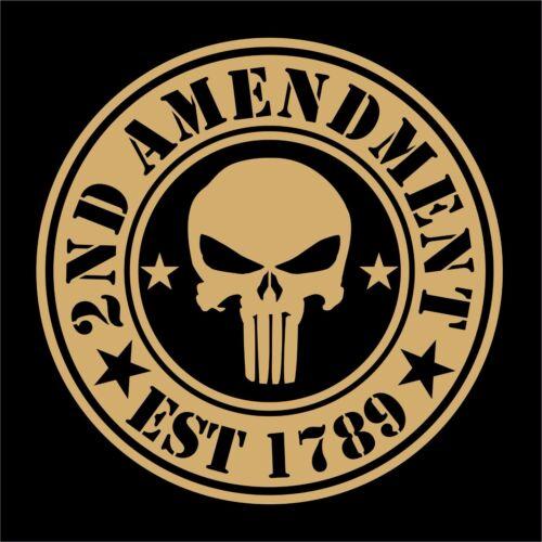 2nd Amendment Punisher USA Skull Flag Sticker Decal Car Truck Laptop Cup