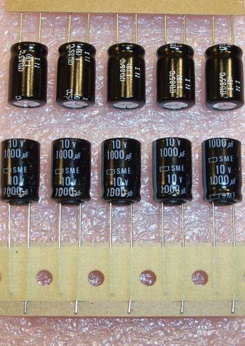 48 1000uf 10V 10x16mm RADIAL ELECTROLYTIC CAPACITORS SME10VB1000MF50 NCC QTY