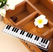 Elegant Black and White Piano Plastic Ruler Student Stationery 15CM 1pc☆