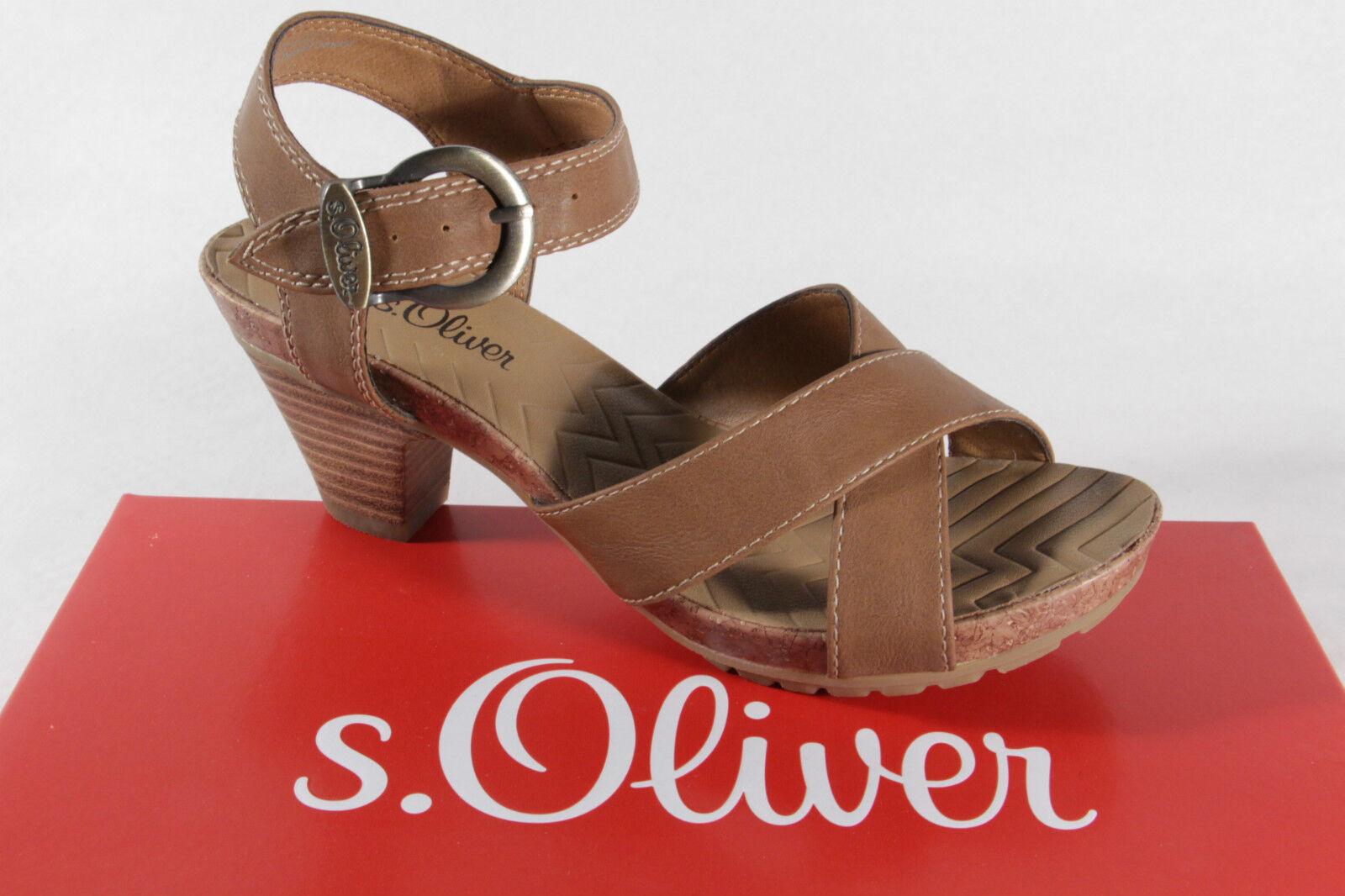 s. Oliver sandalia, marrón, Plantilla de piel NUEVO
