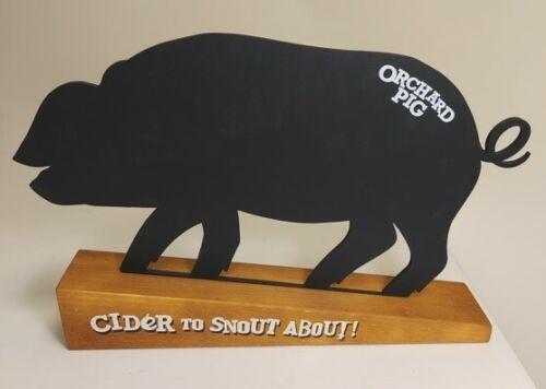 Orchard cochon tableau noir en bois Stand