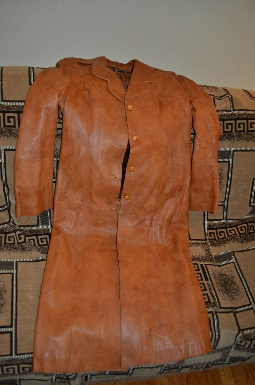 AMADO genuine leather leather leather embellish coat Size S Small w removable faux fur vest 800827