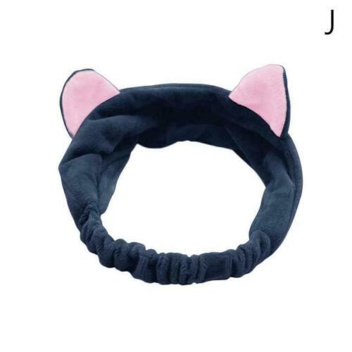 Nettes Sport-Make-up-Gesicht der Frauen waschen Katzenohren-Haarband L0I3