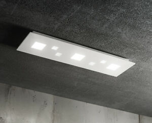 Plafoniere Rettangolari A Led : Plafoniera moderna rettangolare in metallo bianco a led ebay