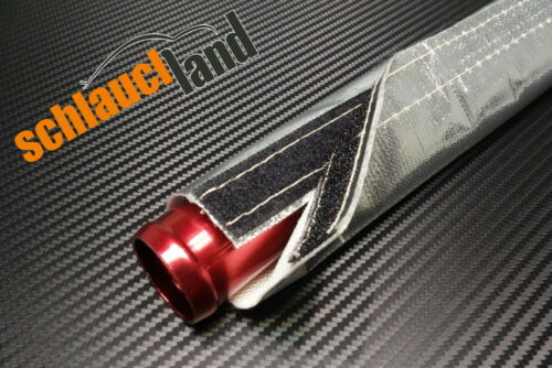 1m Alu-Titan Hitzeschutzschlauch Klett ID 10mm *** Kabelschutz Wärmeschutz Turbo