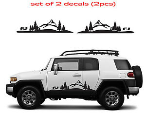 0582 Toyota Fj Cruiser Mountain Decal Vinyl Side Door