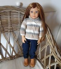 Organic Cable Knit Turtleneck Doll Clothes Sweater Gotz 18 inch Girl Kidz n Cats