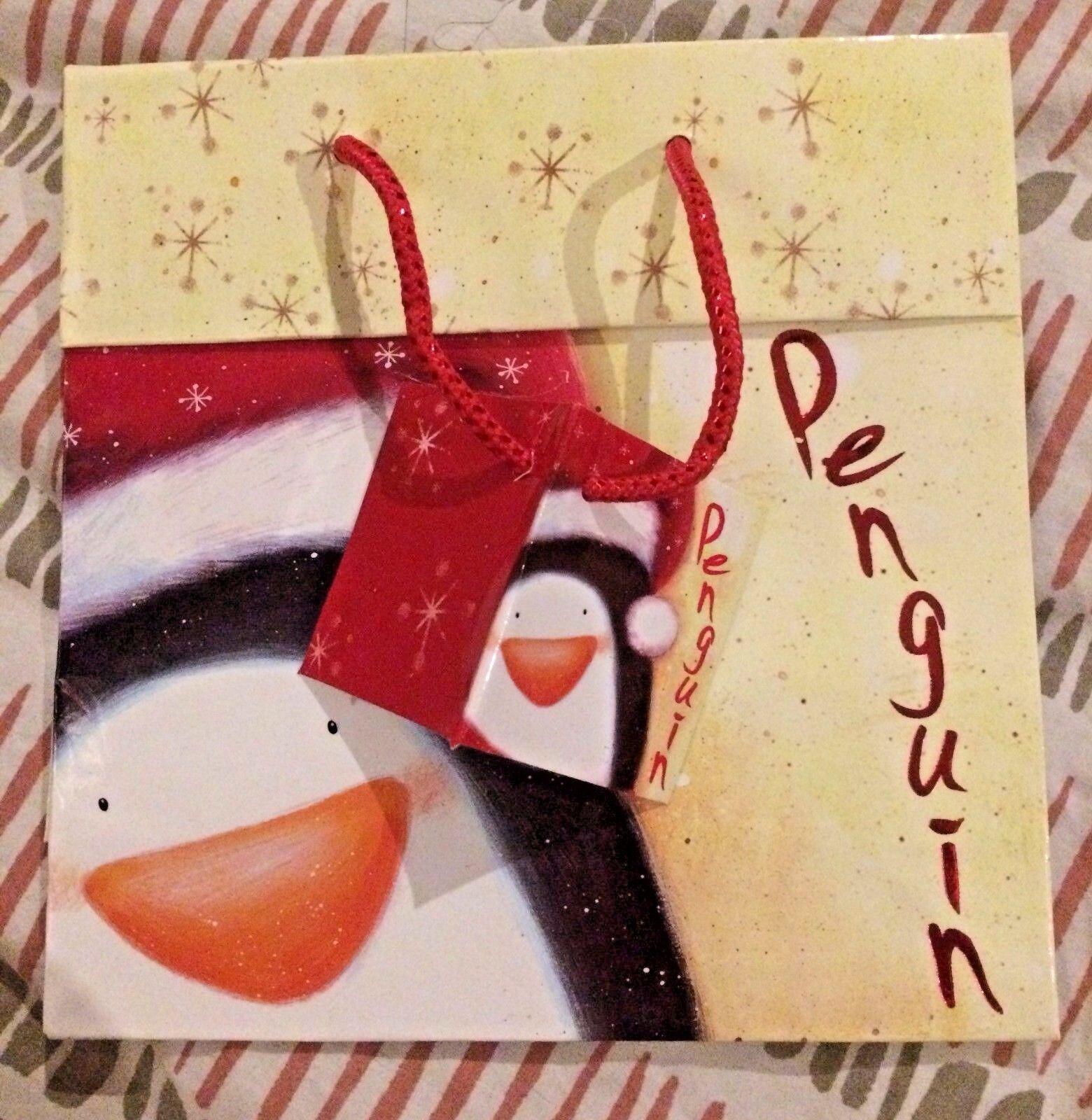 Allegria natalizia pinguino Felice Festa Borse Regalo Favore Favore Favore Bottino regalo borsa con etichette 7d831a