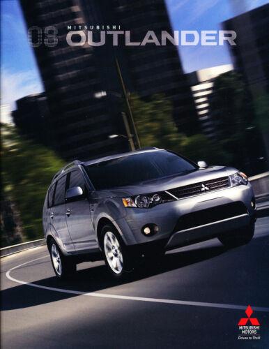 2008 Mitsubishi Outlander 26-page Original Car Sales Brochure Catalog