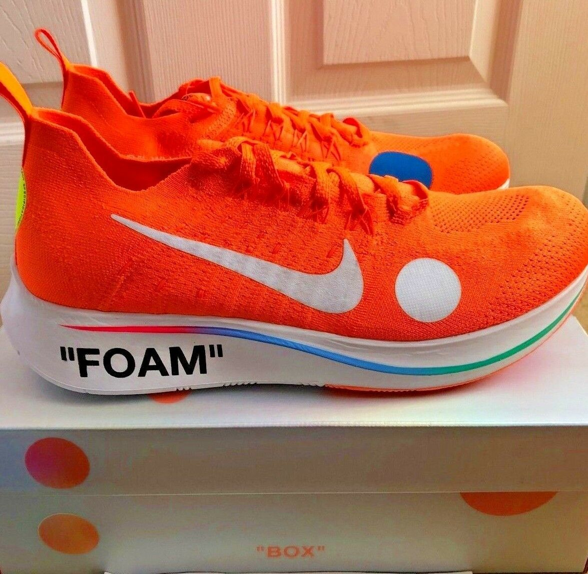 Nike Off blanc Zoom Fly Mercurial Flyknit7 EU 41 Orange Football Mon Amour