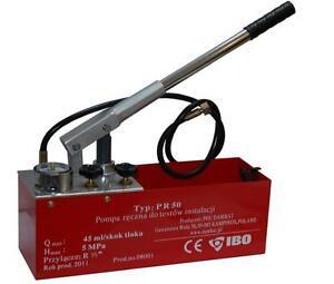 Ibo Pr50 Wasser Ol Manuell Druckprufung Test Pumpe 50bar Ebay