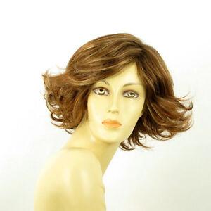 Perruque-femme-courte-Chatain-Cuivre-Meche-Blond-Clair-JEANETTE-6BT27B