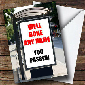 Arrêt de bus annonce personnalisé passé test de conduite Carte de vœux-afficher le titre d`origine 1uxaSvNv-07223258-375453981