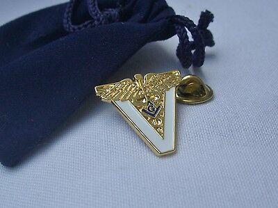 Masonic Vet Veterinary Veterinarian Physician Medicine Lapel Pin and Gift Pouch