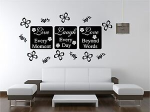 Image Is Loading LIVE LOVE Wall Art Sticker Quote Bedroom Lounge