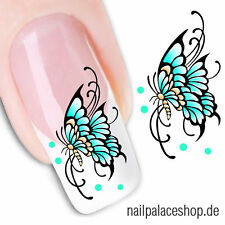 Nail Art Nageldesign Water Transfer Nagel Sticker Aufkleber Schmetterling XF1218