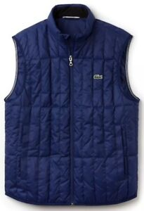 02f7c5ed9c1f NWT Lacoste Lightweight Built In Hood Quilted Down Packable Vest Sz ...