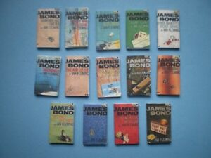 Dolls-House-miniatures-accessories-James-Bond-books-x-14