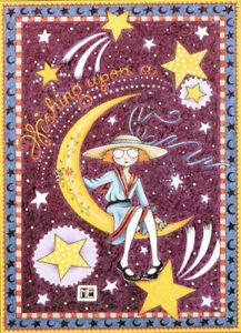 Ann Estelle and Henry Fall-Handcrafted Fridge Magnet-w//Mary Engelbreit Art
