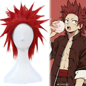 Details about My Hero Academia Kirishima Eijirou Styled Cosplay Wig Hair  Short Red Mens Anime