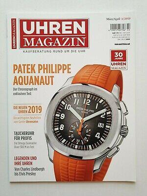 Armband Uhren Magazin 2/2019 Patek Philippe Aquanaut Ungelesen, 1a Top Zustand Erfrischung