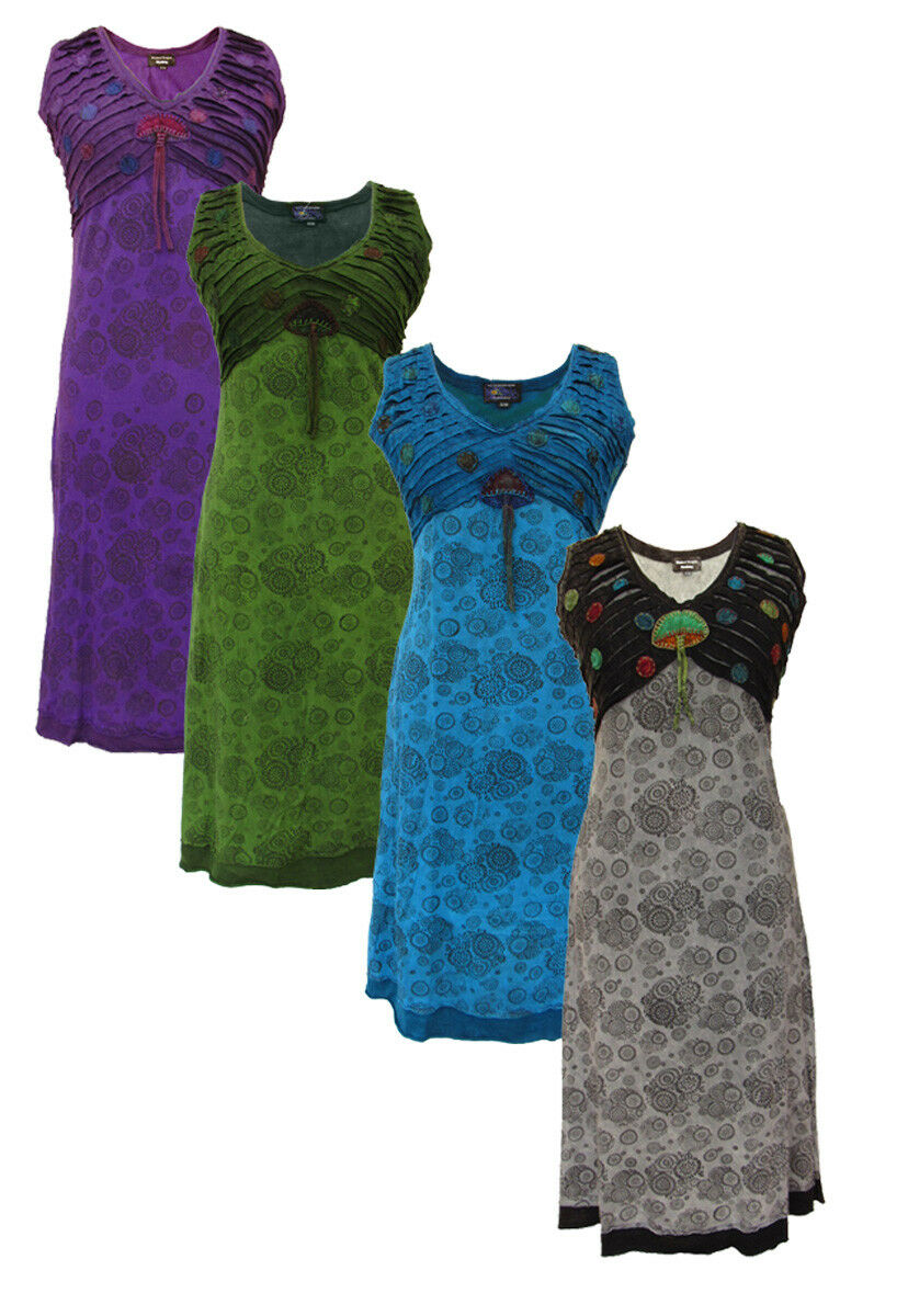 New Funky Mushroom Dress Hippie Clothes up to Plus Size
