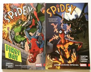 Spidey-Vol-1-First-Day-amp-2-After-School-Special-Marvel-Graphic-Novel-Comic-Book