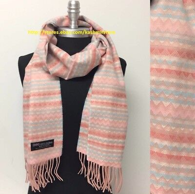 BRAND NEW LIGHT PINK SCARF 100/% CASHMERE VERY SOFT MADE IN SCOTLAND S#10