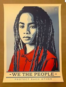 Shepard Fairey Obey Giant We The People 18x24 Poster Print Protect!