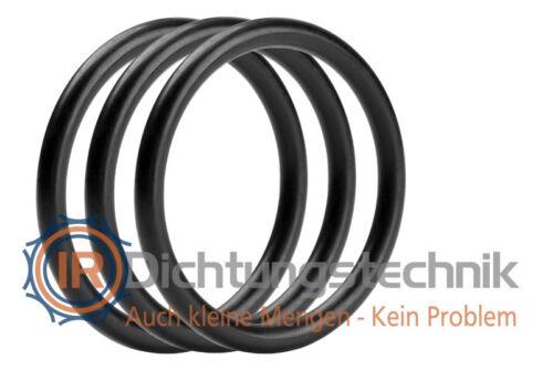 O-Ring Nullring Rundring 48,0 x 5,0 mm EPDM 70 Shore A schwarz Tauchen Atemregler 3 St.