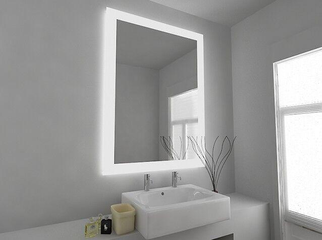 LED Illuminated Bathroom Mirror Mirror Mirror with Sensor and Shaver - Gina - c8402v dc6c33