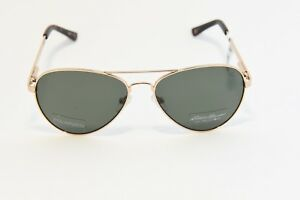 3aee34a30df Image is loading EDDIE-BAUER-RAVENNA-POLARIZED-AVIATOR-SUNGLASSES-GOLD-58-