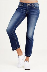 dba5c3cb9 True Religion  209 Women s Karlie Low Rise Bell Bottom Cropped Jeans ...