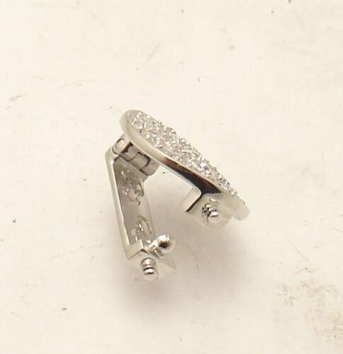 2 in 1 Prong Set CZ Round Mesh Ring Pendant Slide Set Sterling Silver /& Steel