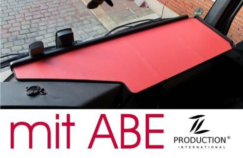 LKW Tisch mit ABE passend Mercedes Actros MP4 Big Space schwarz rot Ablage
