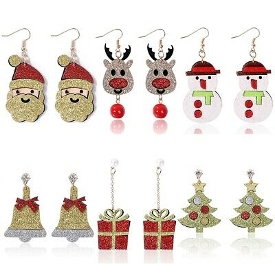 Weihnachtsohrringe Nikolaus Weihnachtsmann Schneemann Stiefel Tannenbaum Glocken