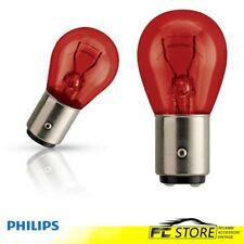 2 LAMPADINE PHILIPS PR21W 12V 21W COLORE ROSSO LUCE STOP BAW15s