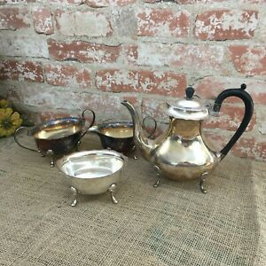 Cheltenham Sheffield England 7239 Plate Four Pieces Coffee Pot Tea Pot
