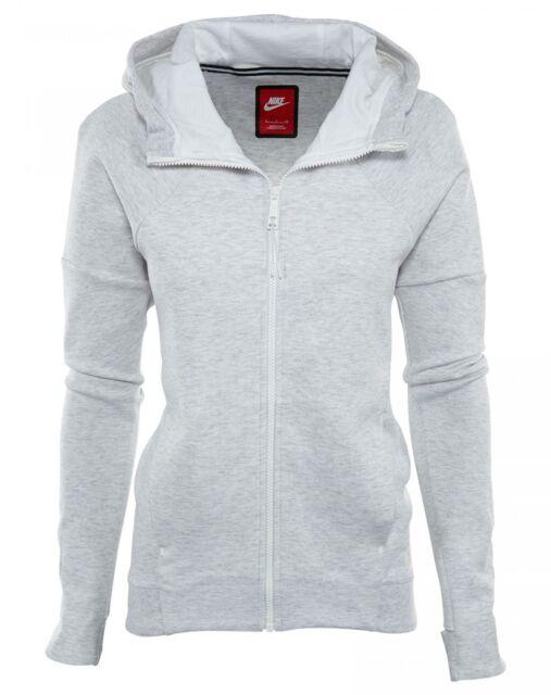 Nike Tech Fleece Full Zip Hoodie Womens 806329-051 Birch White Hoody Size S 350813d021