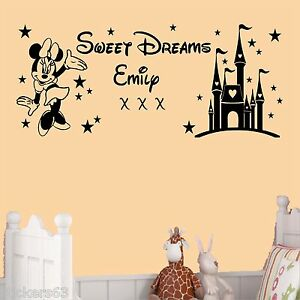 Image Is Loading Sweet Dreams Princess Minnie Mouse Wall Art Sticker  Part 87
