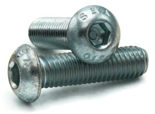 M5-0.8 Button Head Socket Cap Screws Allen Bolts Class 12.9 Zinc Steel ISO 7380