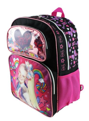 """Jojo Siwa 16/"""" Backpack Insulated Lunch Bag and 7-Piece Stationery Set"""