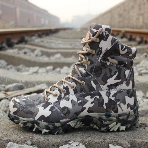 Mens Military Desert Boots Combat Shoes Tactical Hiking Waterproof Climbing Camo