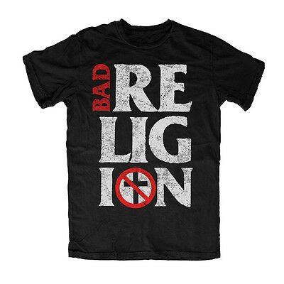 BAD RELIGION - Stacked Logo - T SHIRT S-M-L-XL-2XL Brand New - Official T Shirt